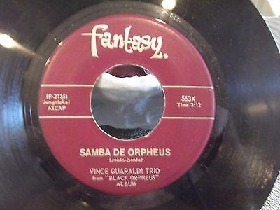 45 Vince Guaraldi Samba De Orpheus Cast Your Fate To