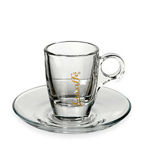 lucaffe espresso tasse aus glas caffe milano ebay. Black Bedroom Furniture Sets. Home Design Ideas