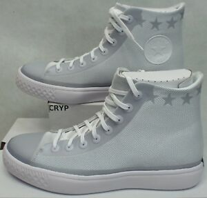 Details about New Mens 11.5 Converse All Star Modern Hi White Grey Stars Textile $125 156640C