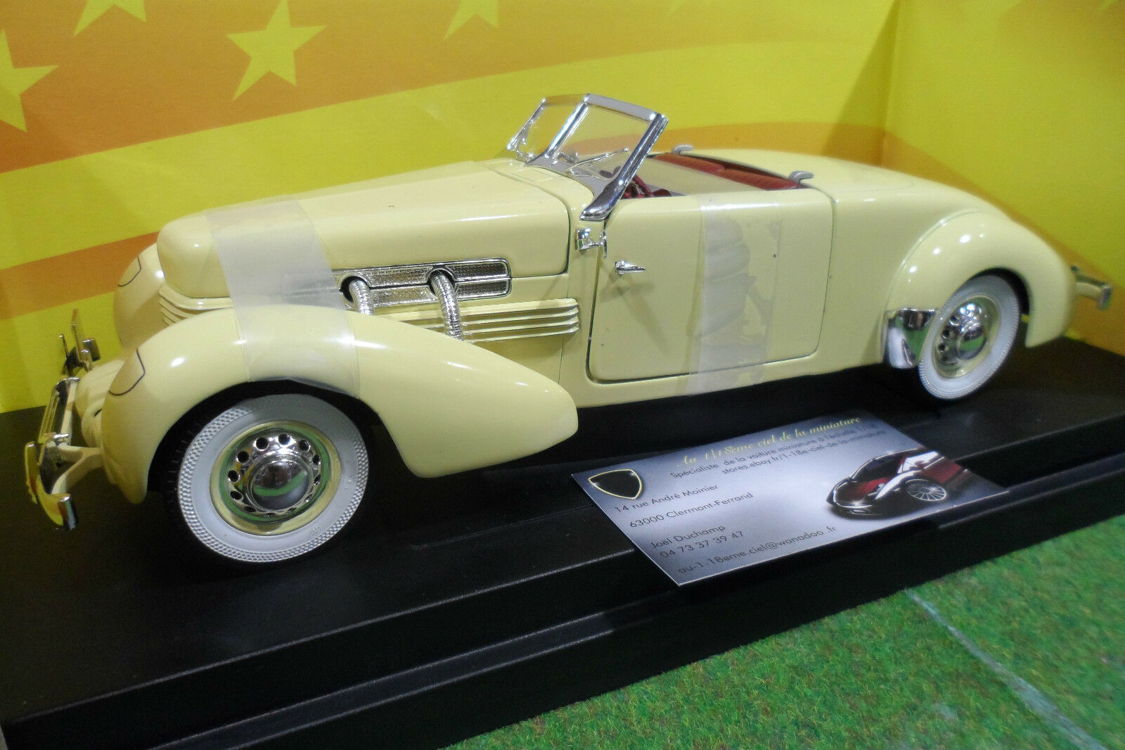 CORD 812 Convertible jne cabriolet 1937 1 18 AMERICAN MUSCLE ERTL 32159 voiture