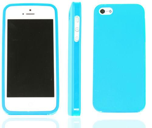 Apple Iphone 5 Sintético Colorido Funda Jelly Funda de Silicona Regalo