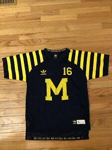 Details about Denard Robinson Michigan Wolverines NCAA Adidas Under The Lights Jersey Youth L