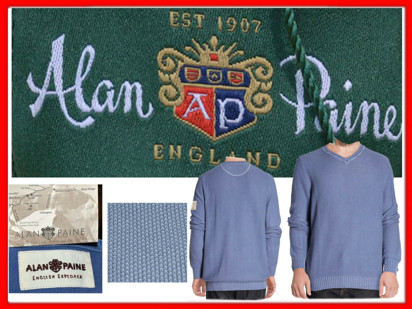 ALAN PAINE UK Maglione men 50    XL QUI CON SCONTO AP06 T2P