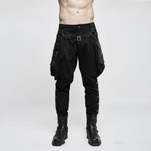 Punk Rave POKE PANTS cavaliere Pantaloni breeches sopra ben rilasciato con borse da sella