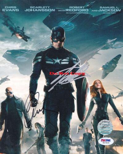 Chris Evans And Stan Lee Signed Marvel's Captain Ameri autographed 8x10 photo RP