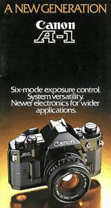 CANON A-1 SLR 35mm CAMERA BROCHURE -CANON A1-from 1980s-CANON A-1