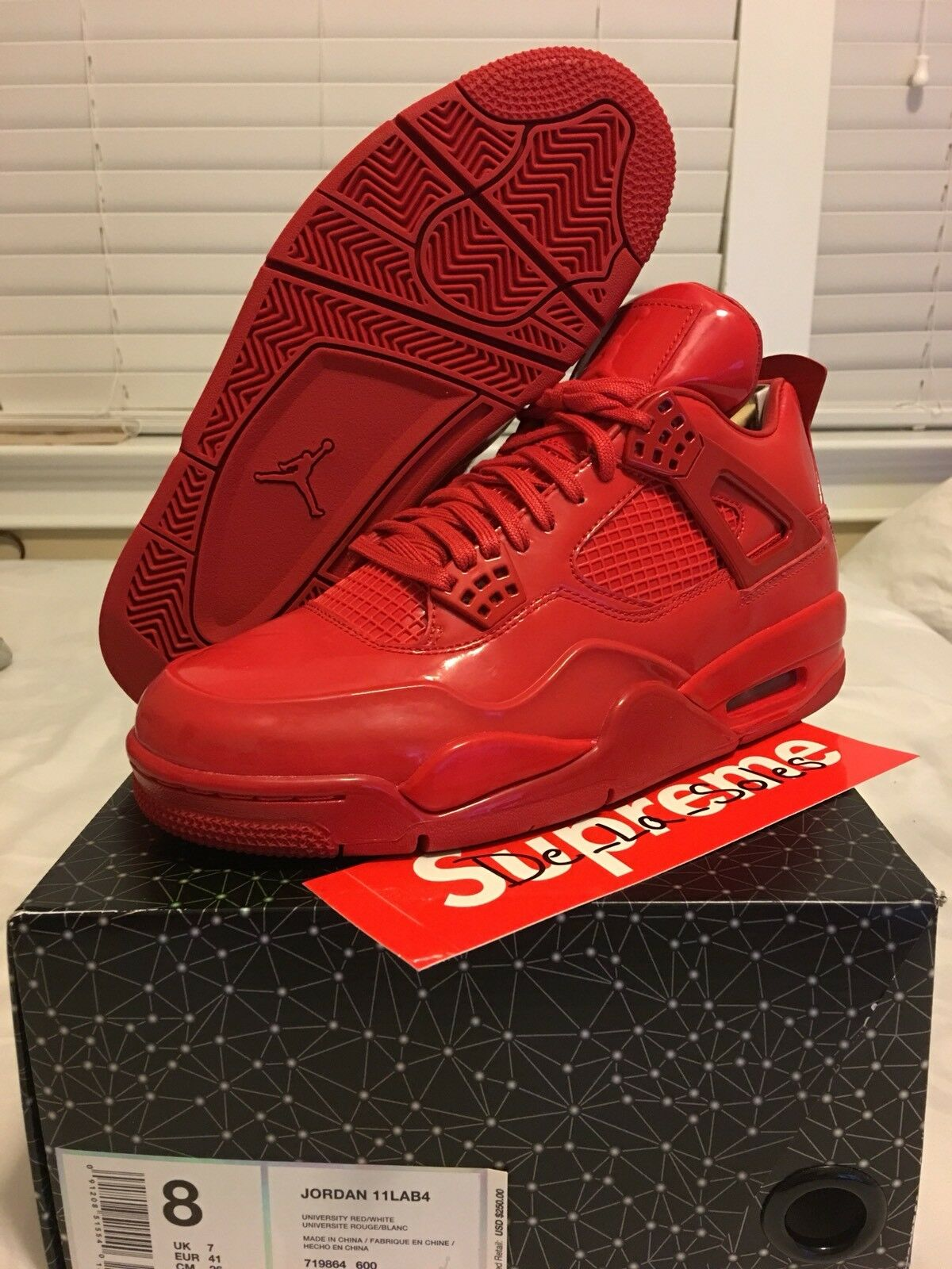 DS Air Jordan 11Lab4 University Red Size 8 Mens Basketball shoes 719864600