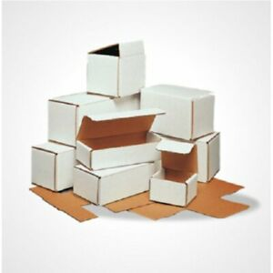 8x3x2  WHITE CORRUGATED MAILING SHIPPING BOXES PACKING CARDBOARD CARTONS