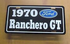 1970 Ford Ranchero Gt License Plate Tag 70 351 Cleveland 429 Super Cobra Jet