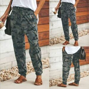 buy sale great quality new arrivals Details about Women Camouflage Jogger Pants Camo Baggy Joggers Elastic  Waist Casual Sweatpants