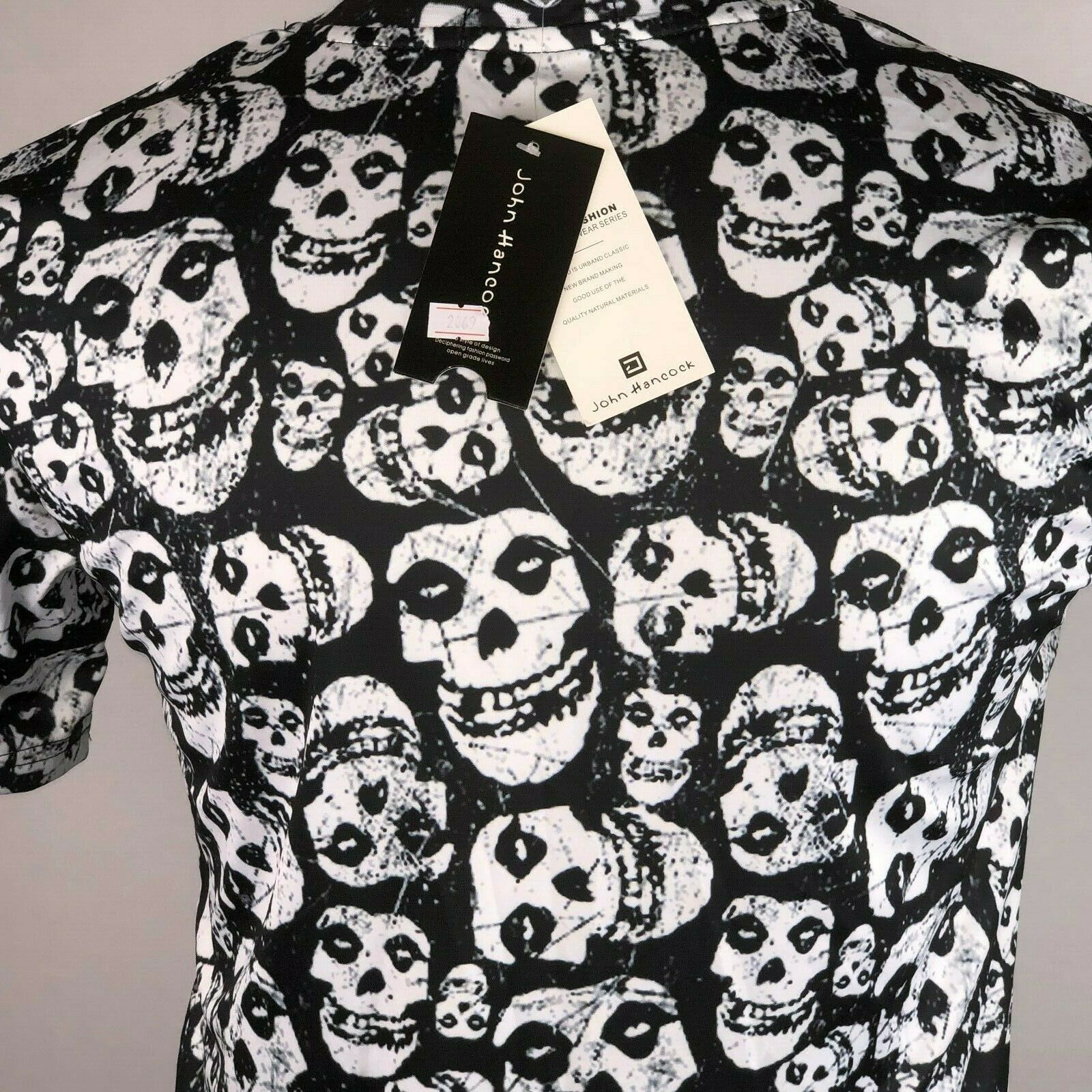 John Hancock Skull Shirt NWT Mens Graphic Tee