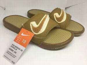 db012c9cd791 Nike Benassi JDI Chenille Men s Slides Bronze Club Gold AO2805-200 ...