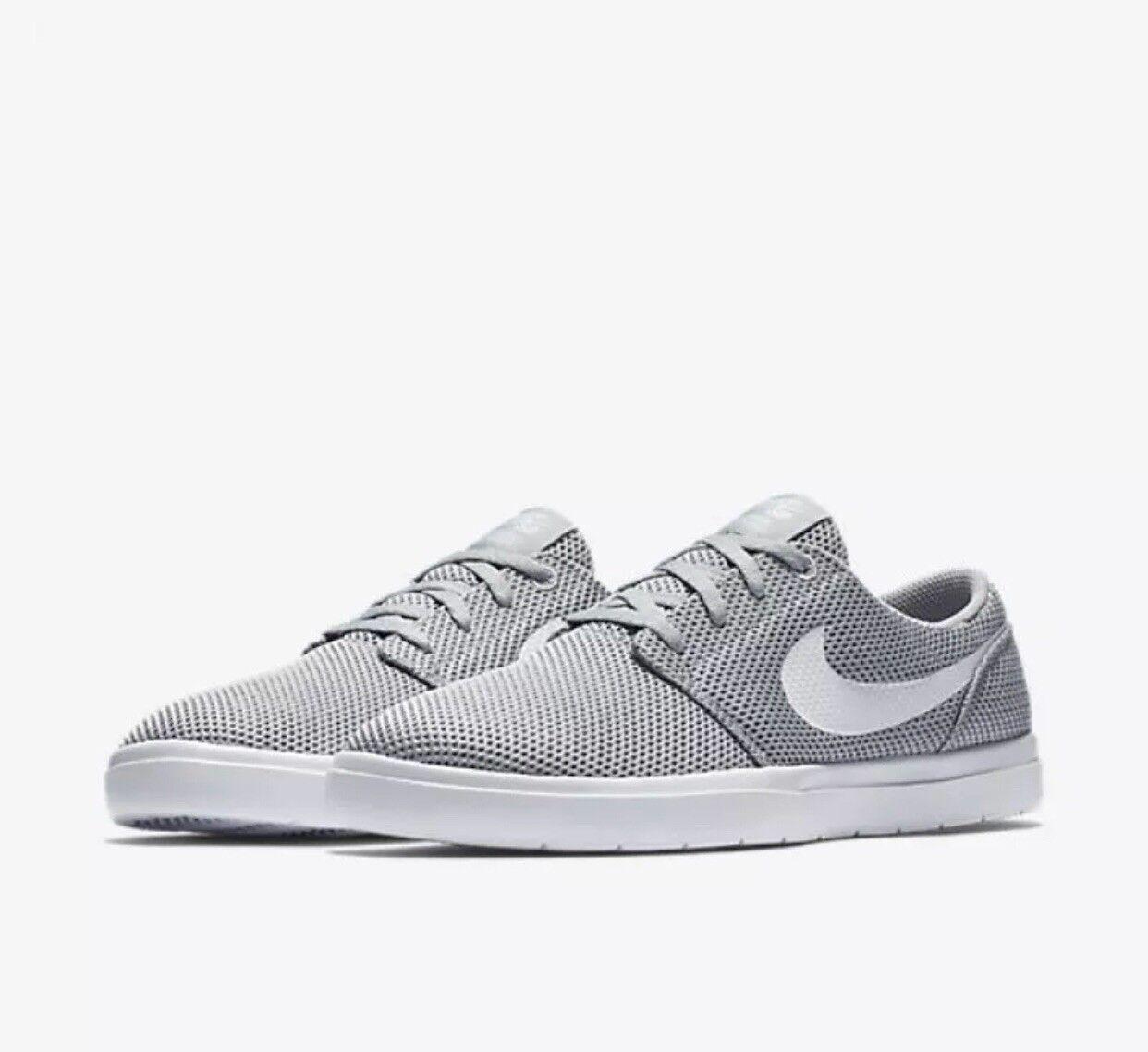 Nike sb portmore ii 880271-011 ultralight mens 880271-011 ii wolf grauen skate - schuhe größe 7,5 1fa917