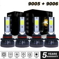 Usa Combo 9005 9006 Cob Led Headlight Kit Bulbs High Low Beam Super Bright White