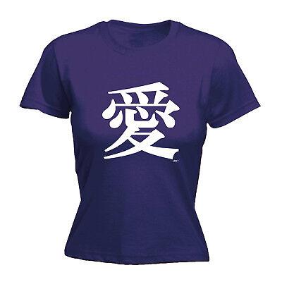 Divertenti Novità Tops T-shirt T-shirt Da Donna Tee-bianco Simbolo Cinese Amore-mostra Il Titolo Originale Colori Armoniosi