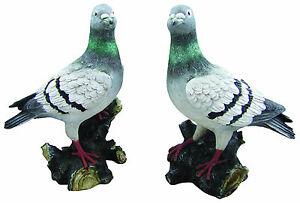 Animali Da Giardino In Plastica.Piccione In Resina Animale Da Giardino Ebay