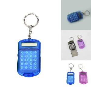 Clear-Plastic-Casing-8Digits-Electronic-Mini-Calculator-Keychain-School-Tool