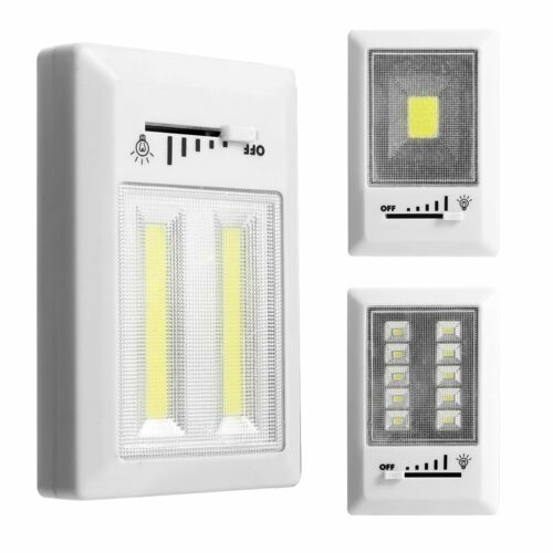 Magnetic Dimmable LED COB Night Light Switch Wireless Closet Cabinet Wall Light
