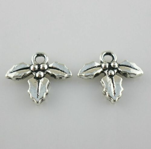 Tibetan Silver//Gold Maple Leaf Crafts Charms Pendants Crafts Jewelry Making
