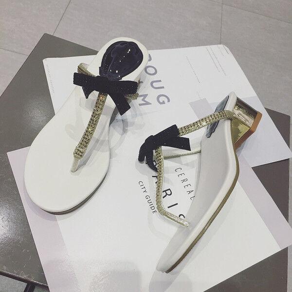 Sandalei 7 cm quadrato eleganti oro strass quadrato cm basso Sandale simil pelle 1171 880bd6