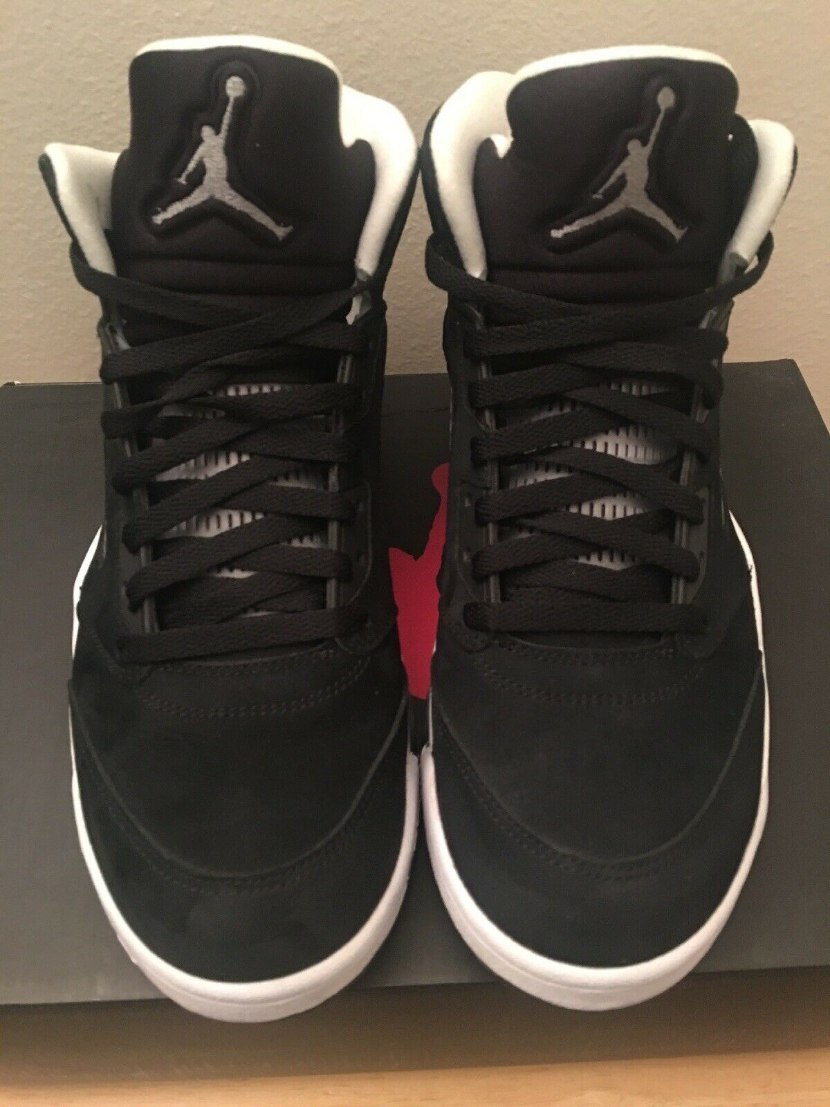 Nike Air Jordan V 5 Retro Oreo Black White Cool Grey (136027 035) Size 11 Minty