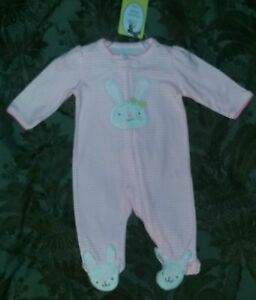 503f6780974f NEW Carter s Precious Firsts 3 Month Baby Girl Easter Sleep   Play ...