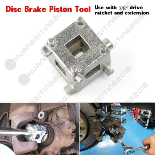 "Autos Rear Disc Brake Piston Caliper Wind Back 3//8/"" Drive Tool Calliper Adaptor"