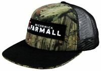 Farmall Licensed Camo & Black Flat Brim Logo Cap