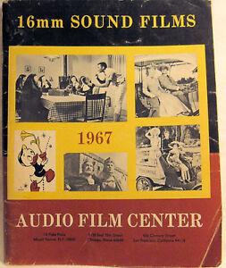 16mm-SOUND-FILMS-1967-AUDIO-FILM-CENTER-Scarce-Vintage-Movie-Movies-Catalog