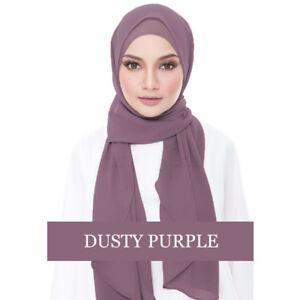 Muslim-Women-Chiffon-Plain-Shawl-With-Hats-Cap-Headwrap-Hijab-Turban-Scarf-New