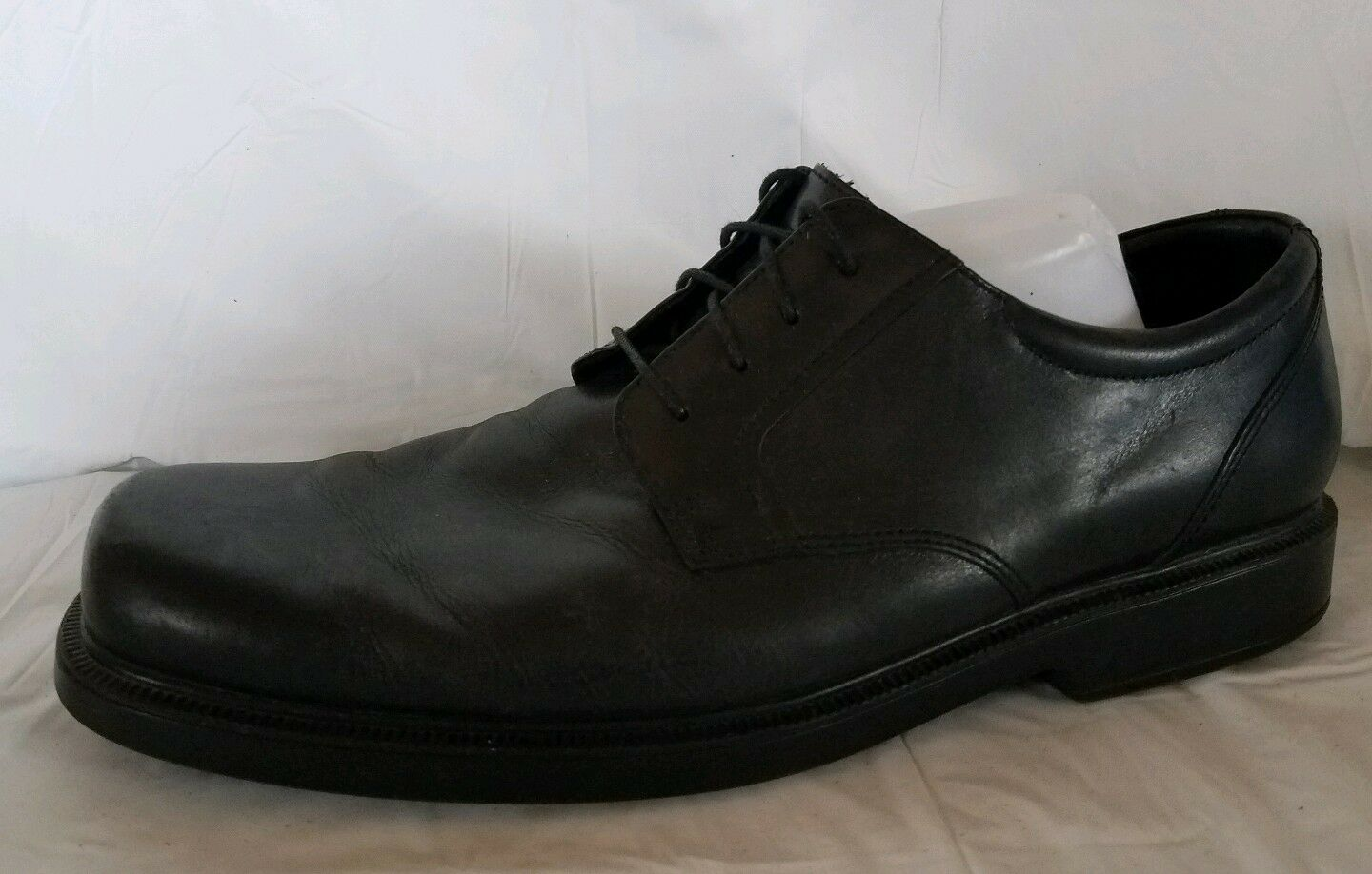 Bostonian 2 Pod Comfort Black Leather Oxford Loafers Dress shoes Mens 13 WIDE