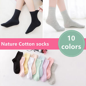 HOT-5-Pairs-Womens-Candy-Color-Cute-Ankle-100-Cotton-Sports-Casual-socks-5-8