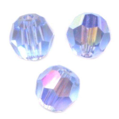 20 Perles Rondes cristal Swarovski 4mm 5800 LIGHT SAPPHIRE AB