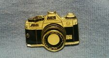 NOS Vintage Canon AE 1 Program Camera Enamel Cap Hat Tie Tack Lapel Vest Pin