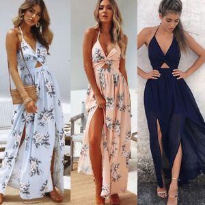 2018-Women-New-BOHO-Floral-Print-Beach-Dress-Sleeveless-Maxi-Dress-Party-Dress