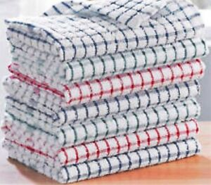 Details about Pack Of 3 Terry 100% Cotton Tea Towels Set Kitchen Dish  Cloths Cleaning Drying