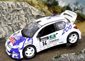 COLLEZIONE-di-auto-da-Rally-Peugeot-206-WRC-TOUR-DE-CORSE-1999-F-Delecour-1-43-modello