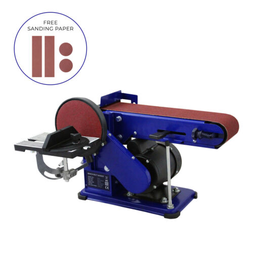Bench Belt Disc Sander Heavy Duty Réglable Électrique Mitre Ponçage//375 W 230 V