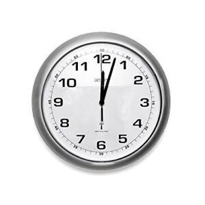 Acctim CADIZ Radio Control Wall Clock Silver 74137