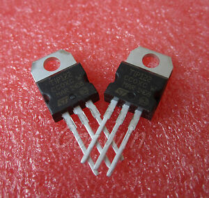 10Pcs-TIP122-TO-220-100V-5A-Transistor-Complementary-NPN