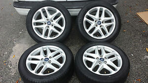 2014 Ford Fusion Tires >> Details About 2014 17 Oem Ford Fusion 2013 Focus 2012 Wheels W Michelin Tires 5x108 2011