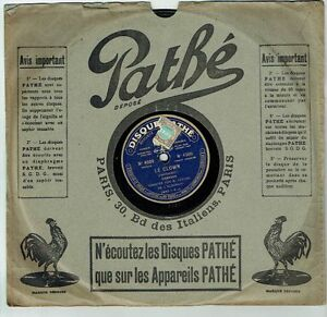 78T-SAPPHIRE-26-cm-BERARD-Eldorado-Sound-THE-CLOWN-Wolf-SEA-Sung-PATHE-4509