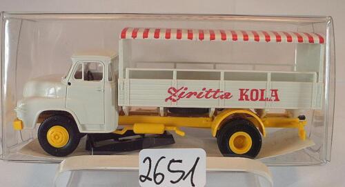 Brekina 1//87 45018 MAN 635 LKW Pritsche//Plane Ziritta Kola OVP #2651