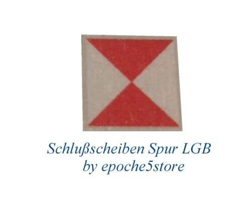 Schlußscheiben Spur LGB 24 Stück Schlußsignal