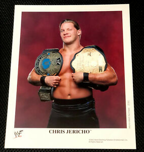 WWE-CHRIS-JERICHO-P-740-OFFICIAL-LICENSED-AUTHENTIC-8X10-PROMO-PHOTO-VERY-RARE