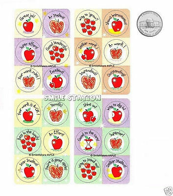 60 Motivational Apple Dot Stickers Teacher Student Kid Chore Chart Reward Supply