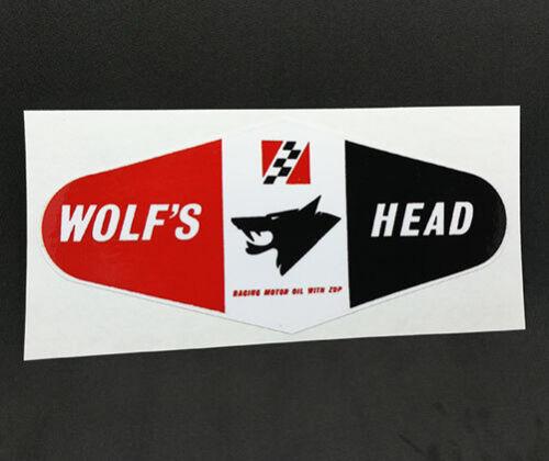 car racing hot rod WOLF/'S HEAD OIL Vintage Style DECAL Vinyl STICKER rat rod