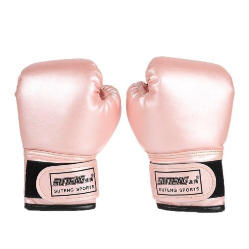 2pcs Boxing Training Kampf Handschuhe Leder Kinder Kickboxen Handschuhe Pink