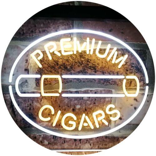Premium Cigars Display Bar Dual Color Led Neon Sign st6-i2389