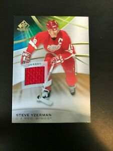 2019-20-UD-SP-Game-Used-Gold-Relic-Jersey-Steve-Yzerman-Group-A-RARE